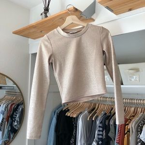 Gold sparkly crop top